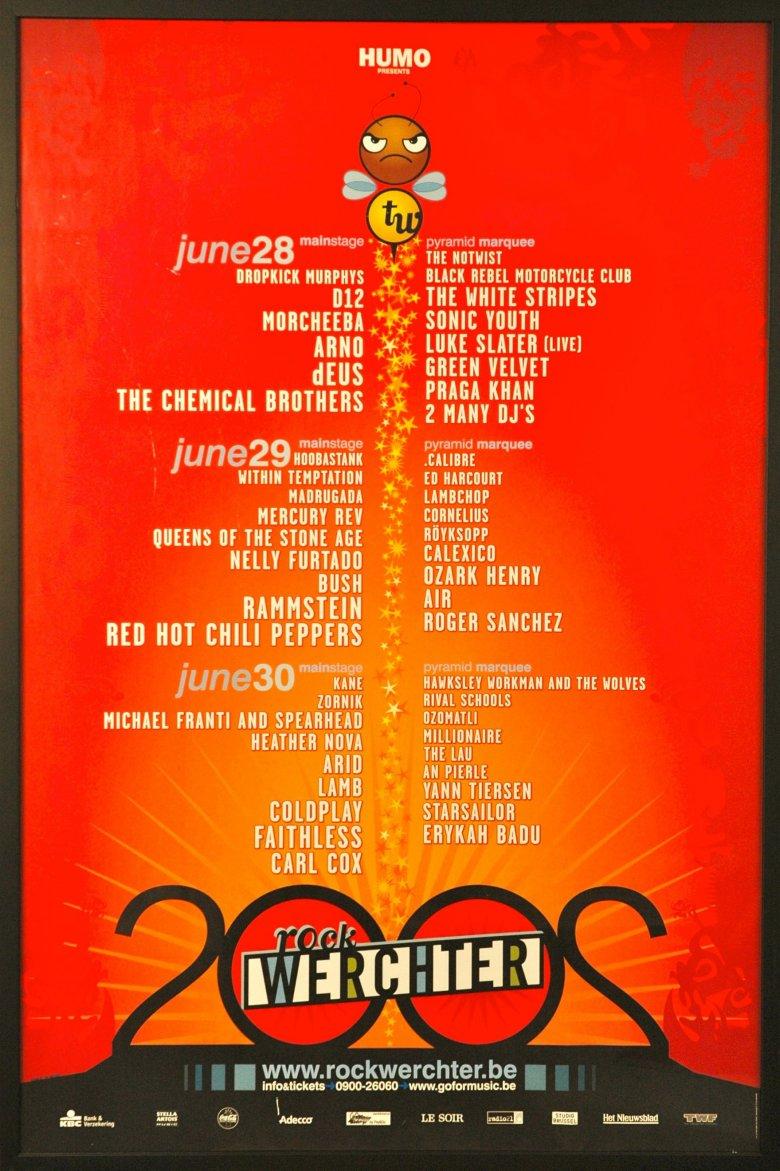 dEUS at Rock Werchter (Werchter) on 28/06/02 - Hotellounge be